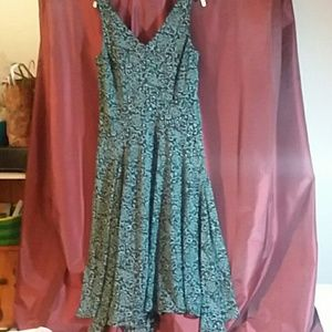 Lined dress. Size 16 plus. Pretty blues and black